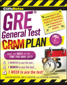 CliffsNotes GRE General Test Cram Plan av Carolyn C. Wheater, Catherine McMenamin og Jane R. Burstein (Heftet)