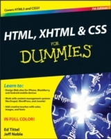 HTML, XHTML and CSS For Dummies av Ed Tittel og Jeff Noble (Heftet)