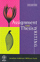 Assignment and Thesis Writing av Jonathan Anderson og Millicent E. Poole (Heftet)