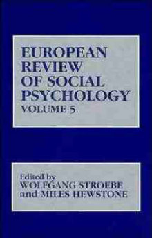 European Review of Social Psychology: v. 5 av W. Stroebe (Innbundet)