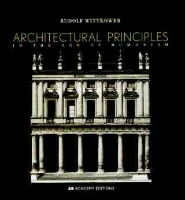 Architectural Principles in the Age of Humanism av Rudolf Wittkower (Heftet)