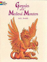 Omslag - Gargoyles and Medieval Monsters Coloring Book