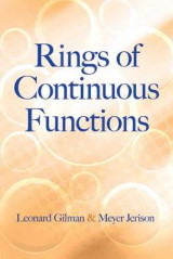 Omslag - Rings of Continuous Functions