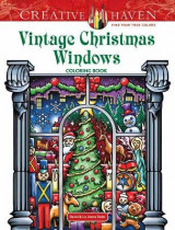 Omslag - Creative Haven Vintage Christmas Windows Coloring Book