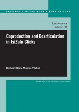 Omslag - Coproduction and Coarticulation in IsiZulu Clicks