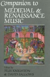 Omslag - Companion to Medieval and Renaissance Music
