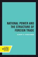 Omslag - National Power and the Structure of Foreign Trade