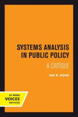 Omslag - Systems Analysis in Public Policy