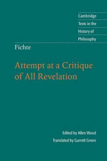 Fichte: Attempt at a Critique of All Revelation av Allen W. Wood (Heftet)