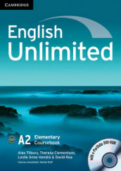 English Unlimited Elementary Coursebook with e-Portfolio CD-ROM and Workbook with answers and DVD-ROM Pack av Margaret Baigent, Christopher Cavey, Theresa Clementson, Leslie Hendra, David Rea og Alex Tilbury (Blandet mediaprodukt)