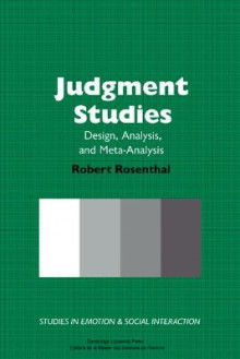 Judgment Studies av Robert Rosenthal (Innbundet)