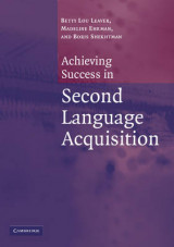 Omslag - Achieving Success in Second Language Acquisition