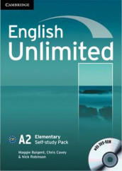 English Unlimited Elementary Self-study Pack (Workbook with DVD-ROM) av Maggie Baigent, Chris Cavey og Nick Robinson (Blandet mediaprodukt)
