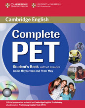 Complete PET Student's Book without answers with CD-ROM av Emma Heyderman og Peter May (Blandet mediaprodukt)