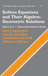 Omslag - Soliton Equations and Their Algebro-Geometric Solutions: Volume 2, (1+1)-Dimensional Discrete Models: (1+1)-dimensional Discrete Models v. 2