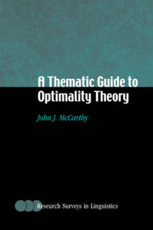 A Thematic Guide to Optimality Theory av John J. McCarthy (Heftet)