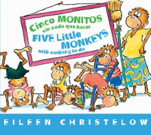 Five Little Monkeys with Nothing to Do (Spanish/English) av Eileen Christelow (Pappbok)