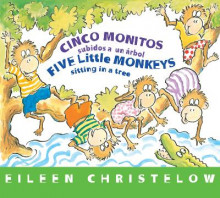 Five Little Monkeys Sitting in a Tree (Spanish/English) av Eileen Christelow (Pappbok)