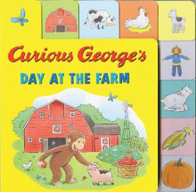 Curious George's Day at the Farm (Tabbed Lift-the-Flap) av H. A. Rey (Pappbok)