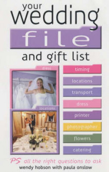 Your Wedding File and Gift List av Wendy Hobson og Paula Onslow (Heftet)