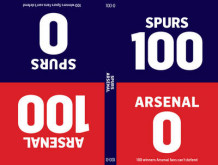 100-0: Arsenal-Spurs/Spurs-Arsenal av Tim Glynne-Jones og Will Brooks (Innbundet)