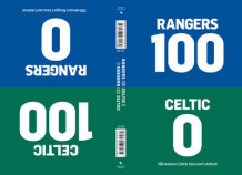100-0: Celtic-Rangers/Rangers-Celtic av Tim Glynne-Jones og Will Brooks (Innbundet)