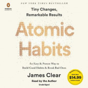 Atomic Habits av James Clear (Lydbok-CD)