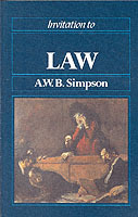 Invitation to Law av A. W. B. Simpson (Heftet)