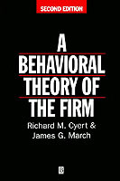 A Behavioral Theory of the Firm av Richard M. Cyert og James G. March (Heftet)