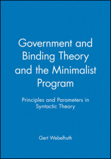Government and Binding Theory and the Minimalist Program (Heftet)