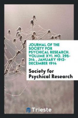 Omslag - Journal of the Society for Psychical Research. Volume XVI. No. 295-314, January 1913- December 1914