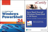 Omslag - Sams Teach Yourself Windows Powershell in 24 Hours Pearson Ucertify Course and Labs and Textbook Bundle