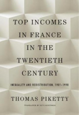 Omslag - Top Incomes in France in the Twentieth Century