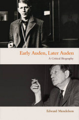 Omslag - Early Auden, Later Auden