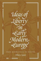 Omslag - Ideas of Liberty in Early Modern Europe