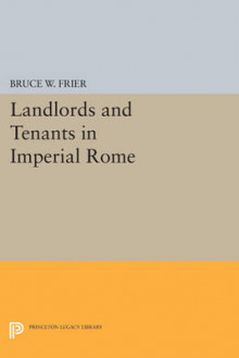 Landlords and Tenants in Imperial Rome av Bruce W. Frier (Heftet)