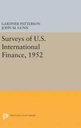 Omslag - Surveys of U.S. International Finance, 1952