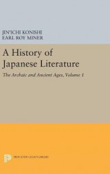 Omslag - A History of Japanese Literature: Volume 1