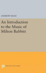 Omslag - An Introduction to the Music of Milton Babbitt