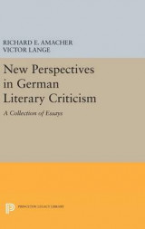 Omslag - New Perspectives in German Literary Criticism