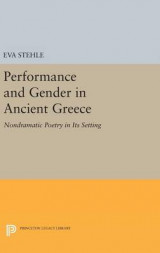 Omslag - Performance and Gender in Ancient Greece