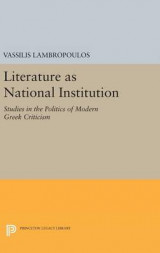 Omslag - Literature as National Institution