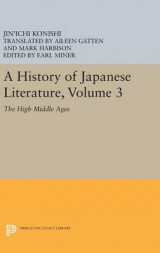 Omslag - A History of Japanese Literature: Volume 3