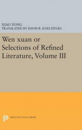 Omslag - Wen Xuan or Selections of Refined Literature: Volume III
