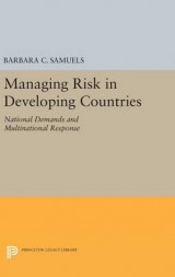 Omslag - Managing Risk in Developing Countries