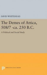 Omslag - The Demes of Attica, 508/7 -CA. 250 B.C.