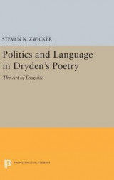 Omslag - Politics and Language in Dryden's Poetry