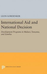 Omslag - International Aid and National Decision