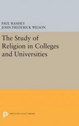 Omslag - The Study of Religion in Colleges and Universities