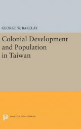 Omslag - Colonial Development and Population in Taiwan